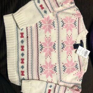 Nautica girls snowflake sweater size 3